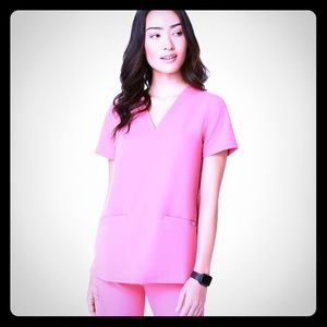 NWT Figs Neon Pink Scrub top and bottom